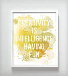 Creativity Print - Yellow