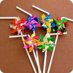 pinwheel party straws