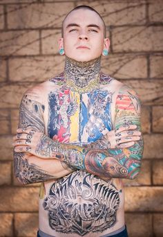 Full Body Tattoo - http://tattooeve.com/serious-stuff-about-full-body-tattoo/