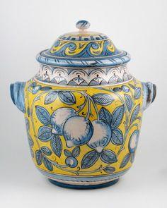 Deruta italian ceramic decoration - Jar with handles