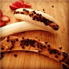 banana, snack, dessert