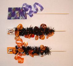 diy candy bouquet | DIY Halloween Candy Bouquet centerpiece - Tip Junkie
