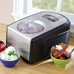 Cuisinart Commercial Quality Ice Cream & Gelato Maker, ICE-100  Add ingredients, press a button and this Cuisinart Ice Cream and Gelato Maker does the work.