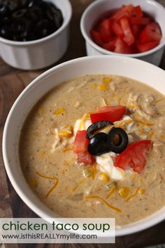 Chicken taco soup - I would also opt for the homemade seasoning to save on sodium