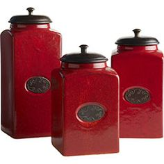 red canisters on pinterest