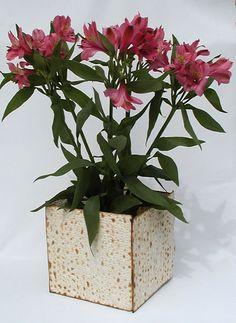 How to Make a Matzo Vase, could also use a glue gun