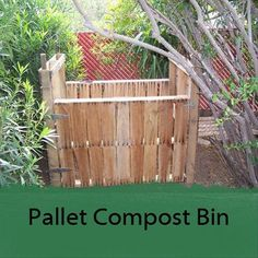 compost bin made from wood shipping pallets