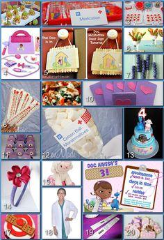 diy ideas, birthday parti, disney parties, 3rd birthday, doc mcstuffin