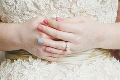 "Paint your ring fingernail for your ""something blue"" 