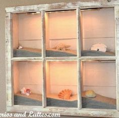 beaches, sand, shadowbox, frame, beach houses, shadow box, old windows, seashell crafts, craft ideas