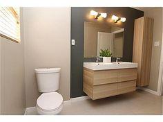 ikea bathroom remodel.  nice tile