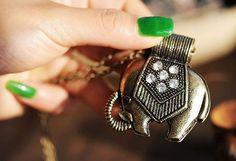 $7.99  Vintage Bangkok Elephant Pendant Necklace