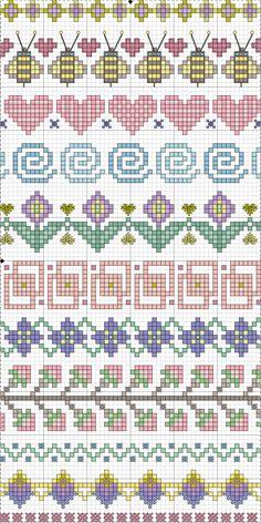 Point de croix *m@* Cross stitch borders