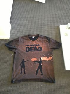 Awesome Walking Dead bleached shirt