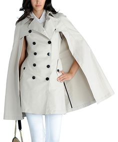 Shell Cape Trench Coat