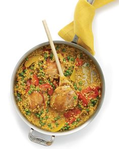 Chicken and Israeli Couscous with Tomato and Lemon | Whole Living