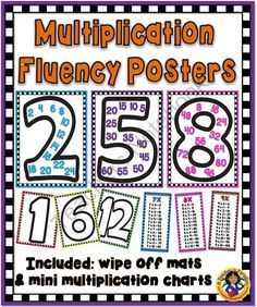 Multiplication Fluency Facts Posters from A Teacher in Paradise on TeachersNotebook.com -  (32 pages)  - Here is a set of multiplication facts posters that can help your students with their multiplication facts fluency skills.