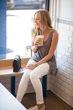 always time for a coffee break @whbm #goodjeans