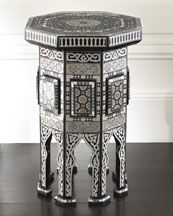 sprays, side tables, morrocan, moroccan style, paints, inlaid tabl, bedrooms, decor idea, black