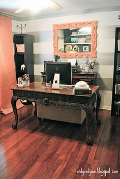 Office Redo - Love the Coral Color!!