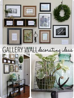 Gallery Wall Decorating Ideas and links to 20 other blogger decorating projects