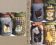 Country Fabric Painted Jars - pattern packet