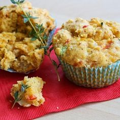 Savory breakfast muffins, full of hearty sausage, bell peppers, sweet onions and gooey cheddar cheese!