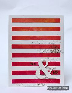 Office Space, Ampersand Die-namics, Stripes Cover-Up Die-namics - Amy Rohl #mftstamps