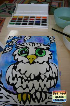 * Black Glue and Watercolor Resist: How To Make Black Elmer'sGlue