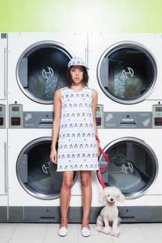 "Rachel Antonoff dress in Francine Dressler ""I'll Be Wearing A Red Carnation Print"" on Aubrey Plaza, Spring 2014 (boob print)"