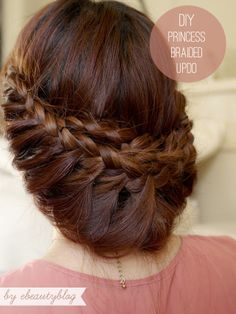 tutorials, princess braid, easi, updo tutori, braid updo