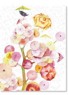 Gorgeous artwork by Masha D'yans, 'March' greeting card available at www.jackcards.com