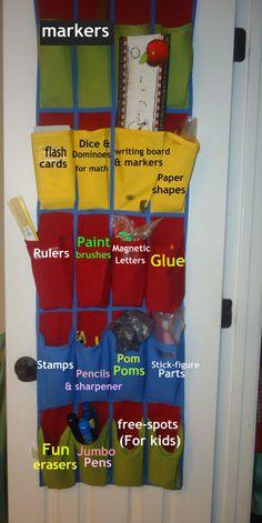 Organizing kids art supplies  (& school supplies)