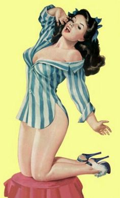 I love the old pinup girl posters.  :)  The pinup girls were curvy, and had real bodies.  Pinup girl