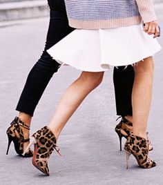 17 Shoes Spotted on Street Style Tastemakers You Can Shop Now! leopard shoes, fashion weeks, paris fashion, fashion models, heel, street styles, leopards, oversized sweaters, leopard prints
