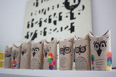 Owls (toilet paper rolls)