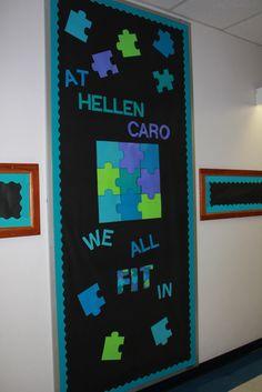 We all fit in bulletin board