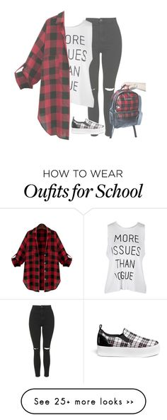 """Off to school in a few ~Bta"" by l0ver-f0rever on Polyvore featuring Topshop, Pedder Red and Kill Star"