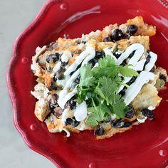 Chicken and Black Bean Enchilada Casserole