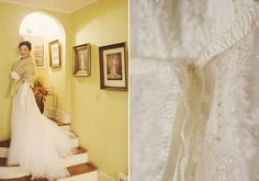 Vintage Winter Wedding | photos by Our Labor of Love | Dress by Monique Lhuillier | | 100 Layer Cake