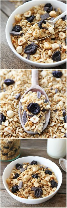 #Recipe: Hazelnut Granola with Dried Cherries and Dark #Chocolate