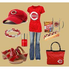 Cincinnati Reds- cute! Polyvore