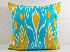 Set of 2 BLUE IKAT PILLOWS 20x20 Decorative Throw Pillow Cover orange Ikat Throw Pillow Covers. $49.95, via Etsy. ikat throw, orang ikat, pillow 20x20, ikat pillow, blue ikat, pillow covers, cover orang, throw pillows, 20x20 decor