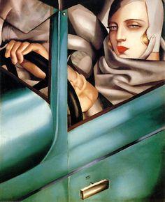 Auto-Portrait, Tamara in the Green Bugatti, 1925, Tamara de Lempicka