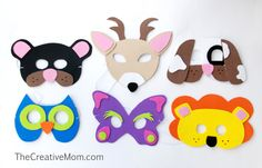 eighteen25: Quick & Easy Animal Masks