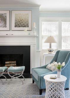 #LivingRoom    Love this light blue.....it is soooo calming and restful