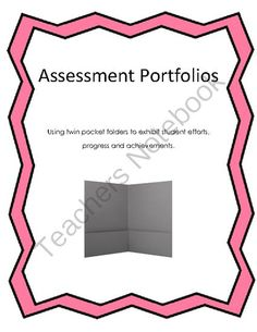 Assessment Folders from Our Inquiring Minds on TeachersNotebook.com -  (6 pages)  - How to use twin pocket folders to exhibit student efforts,  progress and achievements.  Package includes instructions and details about what I do and two recording charts.