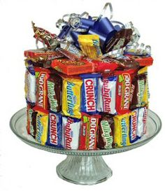 Birthday Candy Bar Cake ~~ Or a Cheering Up Gift~