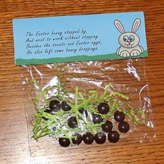 Bunny poop, too cute!!