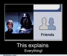 geek, darth vader, friends, stars, starwar, funni, star wars, thought, dark side